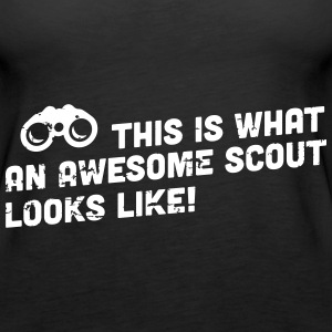 This is what an awesome scout looks like Tops - Vrouwen Premium tank top