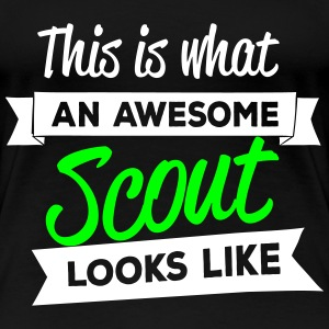 This is what an awesome scout looks like T-shirts - Premium-T-shirt dam