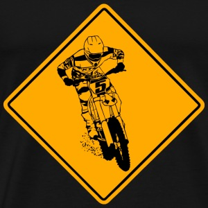 Moto Cross Racing Road Sign Tee shirts - T-shirt Premium Homme