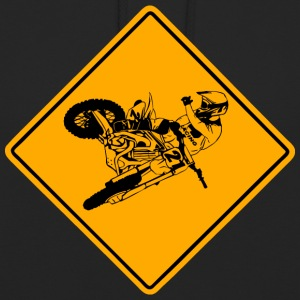 Moto Cross Racing Road Sign Sweat-shirts - Sweat-shirt à capuche unisexe