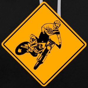 Moto Cross Racing Road Sign Sweat-shirts - Sweat-shirt contraste