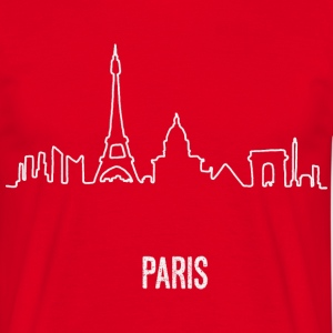 Paris Skyline Hand Drawn - Männer T-Shirt