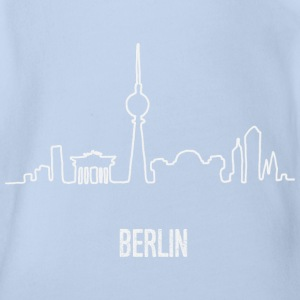 Berlin Skyline Hand Drawn - Baby Bio-Kurzarm-Body
