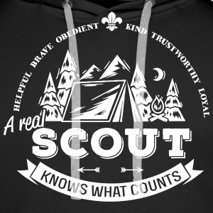 A real scout knows what counts Hoodies & Sweatshirts - Men's Premium Hoodie