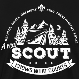 A real scout knows what counts T-skjorter - Premium T-skjorte for menn