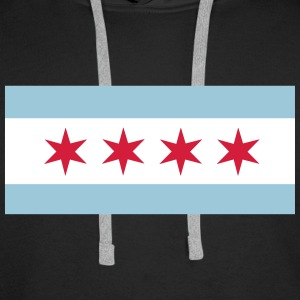 Flag of Chicago Hoodies & Sweatshirts - Men's Premium Hoodie