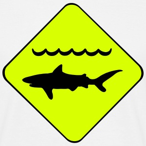 Warning Sharks Symbol T-Shirts - Men's T-Shirt