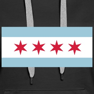 Flag of Chicago Hoodies & Sweatshirts - Women's Premium Hoodie