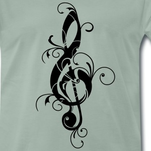 Clef, note, sheet, music, musical, notes, classic T-Shirts - Men's Premium T-Shirt