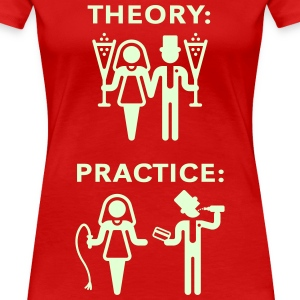 Theory & Practice / Bride & Groom (Wedding) T-Shirts - Women's Premium T-Shirt