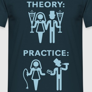 Theory & Practice / Bride & Groom (Wedding) T-Shirts - Men's T-Shirt