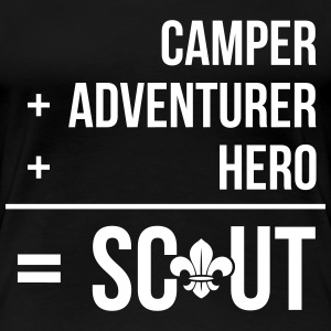 Camper+adventurer+hero = Scout T-Shirts - Frauen Premium T-Shirt