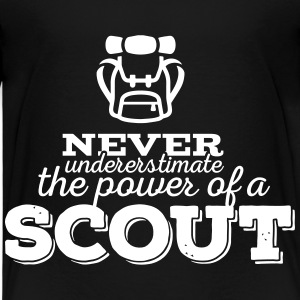 Never underestimate the power of a scout T-Shirts - Kinder Premium T-Shirt