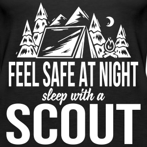 Feel safe at night, sleep with a scout Toppar - Premiumtanktopp dam