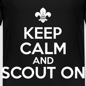 Keep calm and scout on T-shirts - Børne premium T-shirt