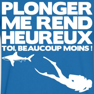 Plonger me rend heureux Tee shirts - T-shirt Homme col V