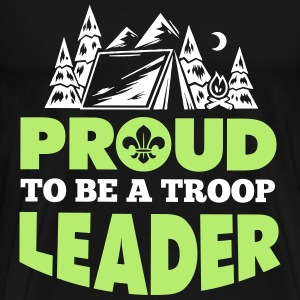 Scout: Proud to be a troop leader Magliette - Maglietta Premium da uomo