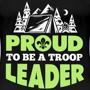 Scout: Proud to be a troop leader Camisetas - Camiseta premium mujer