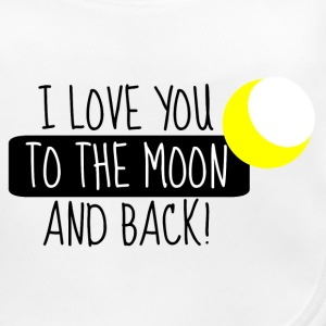 I Love you to the moon and back - Baby Bio-Lätzchen