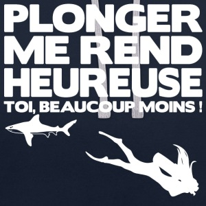 Plonger me rend heureuse Sweat-shirts - Sweat-shirt contraste