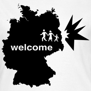 Refugees welcome in Germany women - Frauen T-Shirt