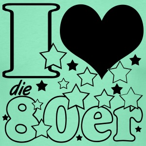 i love the 80`s,80er,LP,Witzig,Spruch,I love,Party - Männer T-Shirt