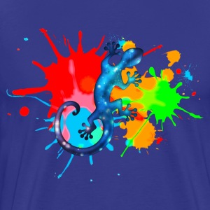 Space Gecko, Lizard, Color, Splash, Festival, T-Sh - Men's Premium T-Shirt