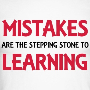 Mistakes are the stepping stone to success Long sleeve shirts - Men's Long Sleeve Baseball T-Shirt