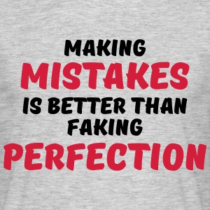 Making mistakes T-shirts - Herre-T-shirt