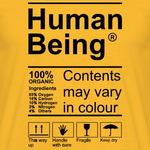 Human Being Product Label T-Shirts - Männer T-Shirt