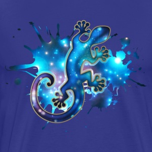 Space Gecko, Galaxy, Star, Surf, Lizard, Universe  - Men's Premium T-Shirt
