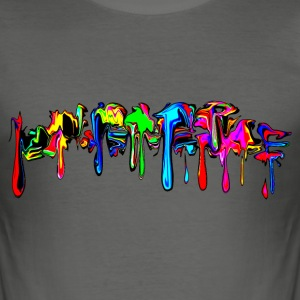 Farbe bunt, Paint, Color Graffiti, Comic, Spritzer - Männer Slim Fit T-Shirt