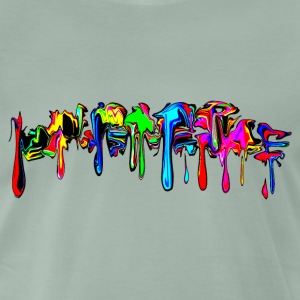 Color, rainbow, graffiti, splash, paint, comic Tee shirts - T-shirt Premium Homme