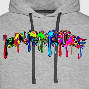 Color, rainbow, graffiti, splash, paint, comic Sweaters - Mannen Premium hoodie