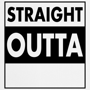 Straight Outta - Your Text (Font = Futura) Fartuchy - Fartuch kuchenny
