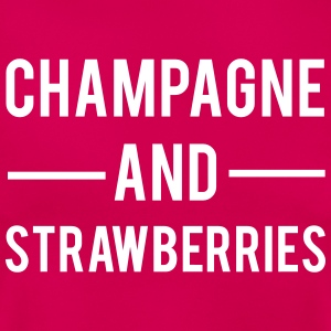 Champagne And Strawberries T-shirts - Dame-T-shirt
