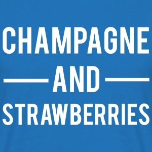 Champagne And Strawberries T-skjorter - T-skjorte for menn