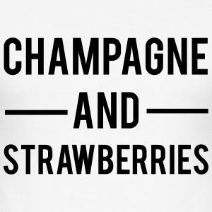 Champagne And Strawberries Magliette - Maglietta aderente da uomo