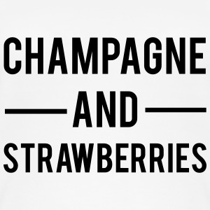 Champagne And Strawberries Tops - Women's Organic Tank Top