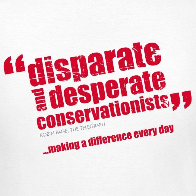 BAWC Disparate & Desperate Quote Women's White T-Shirt