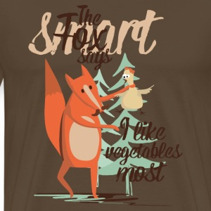 The smart Fox says - I like vegetables most T-Shirts - Männer Premium T-Shirt