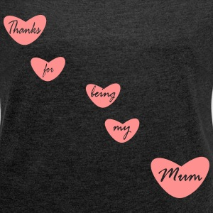 Mum - Women's T-shirt with rolled up sleeves