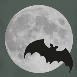 moon bat volle maan halloween hond T-shirts - Mannen Bio-T-shirt