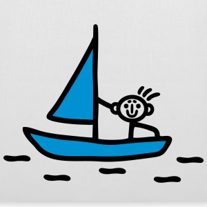 Stick figure sailing - V2 Bags & Backpacks - Tote Bag