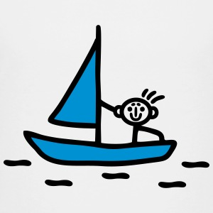 Stick figure sailing - V2 Shirts - Teenage Premium T-Shirt