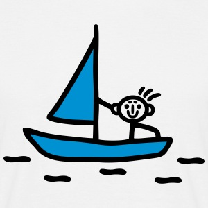 Stick figure sailing - V2 T-Shirts - Men's T-Shirt