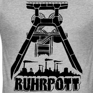 Dirty Ruhrpott Shirt - Männer Slim Fit T-Shirt