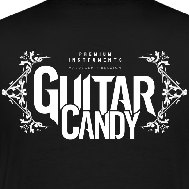 Guitar Candy Horizontal Logo on back T-Shirt