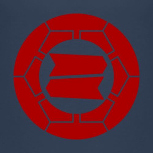 Hattori clan kamon in red