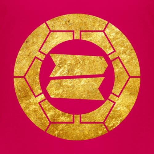 Hattori clan kamon in faux gold